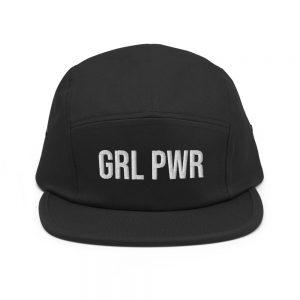 GRL PWR Feminist Five Panel Cap