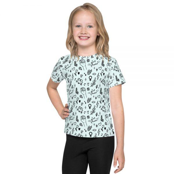 GRL PWR Doodle Kids Crew Neck T-shirt