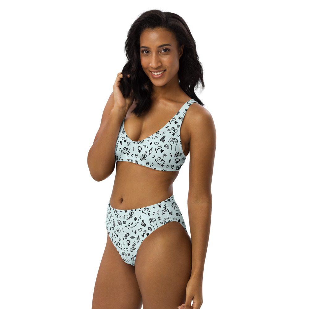 GRL PWR Doodle Recycled High-waisted Bikini