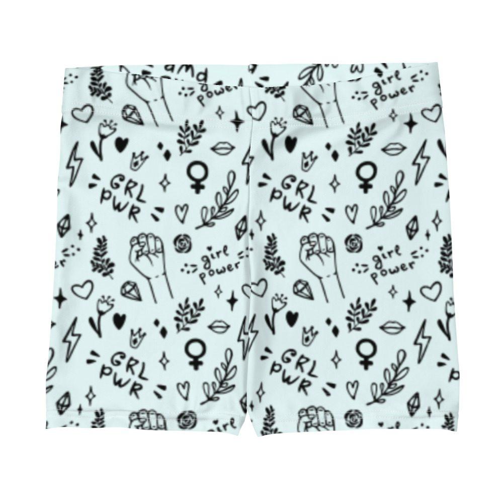 GRL PWR Doodle Shorts