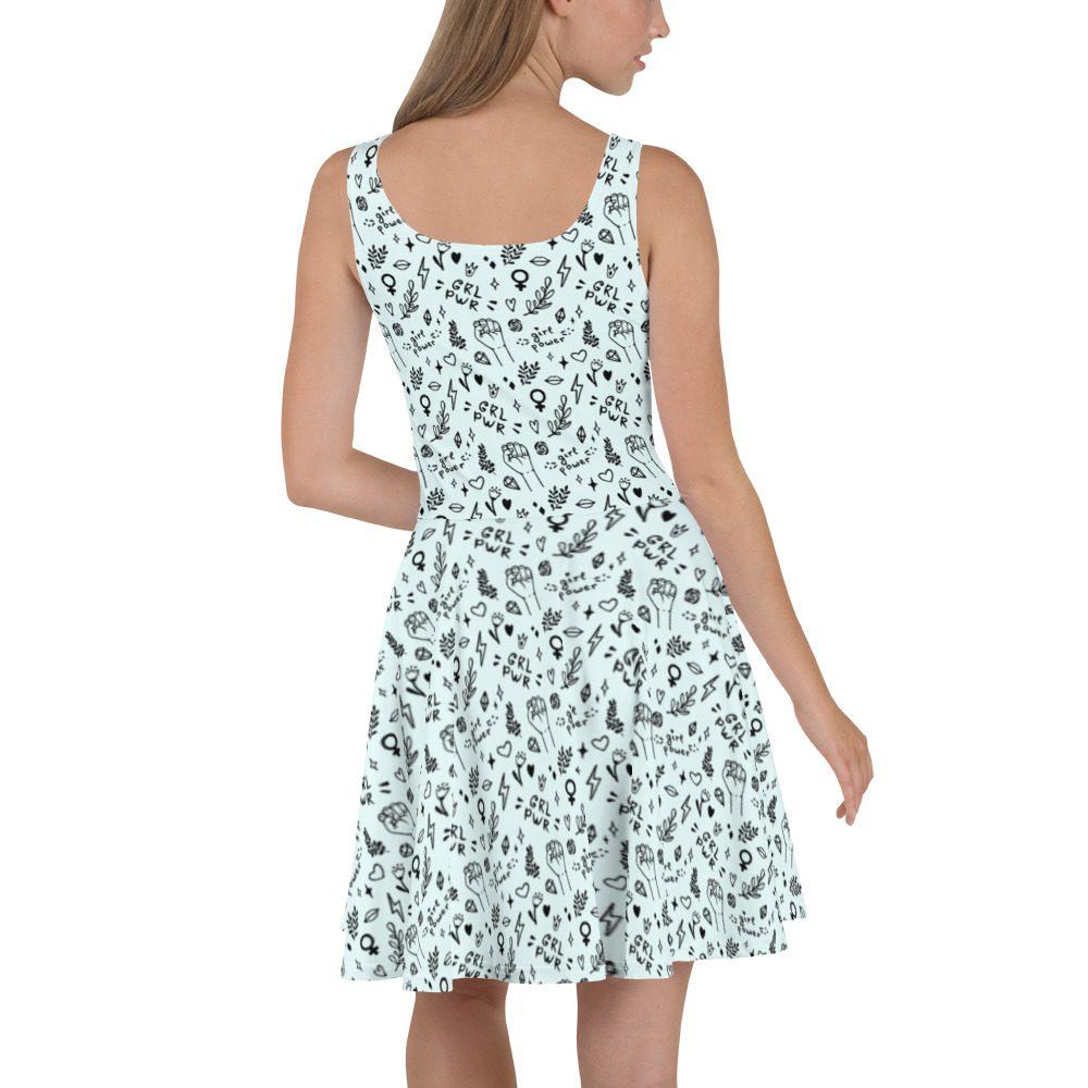 GRL PWR Doodle Skater Dress
