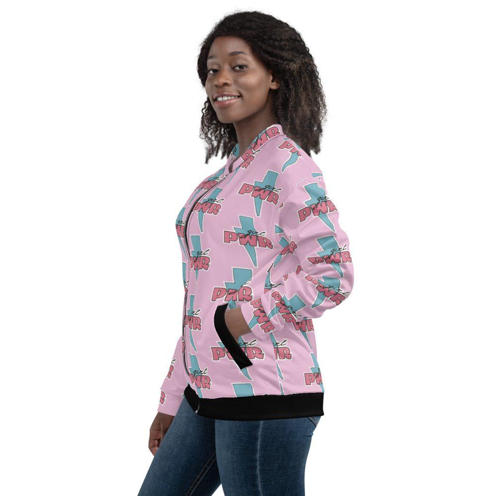 Girl PWR Pink Bomber Jacket