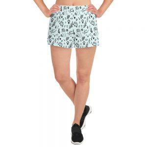 GRL PWR Doodle Athletic Short Shorts