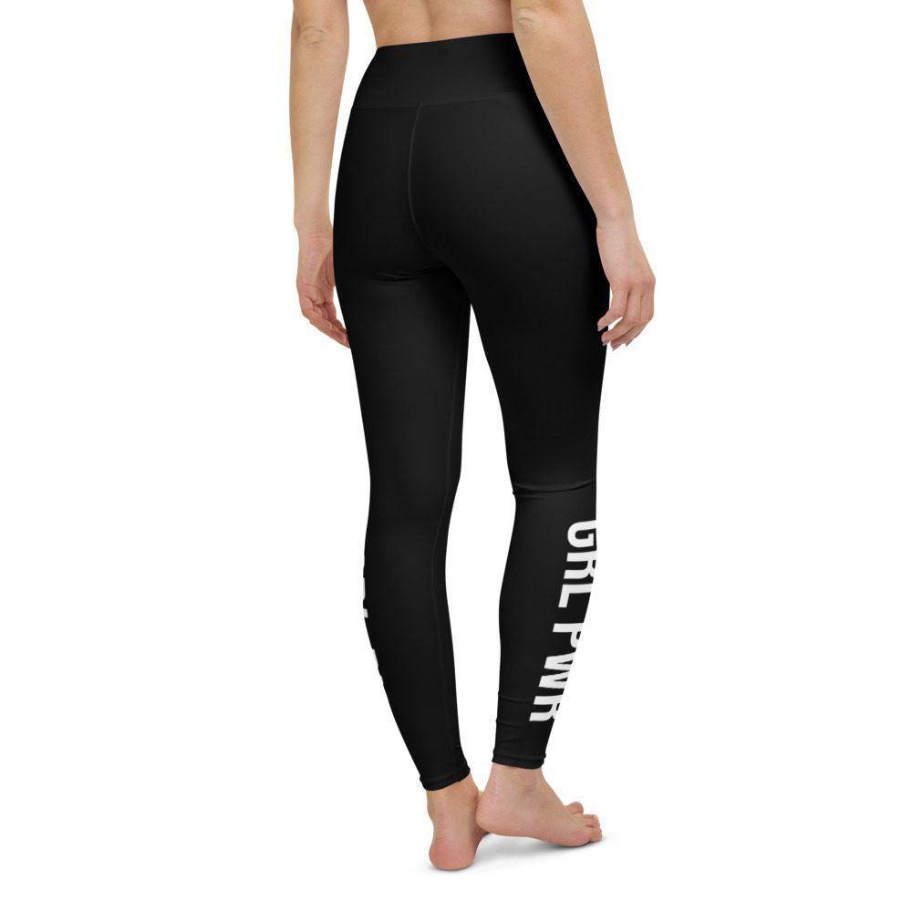 GRL PWR Feminist Yoga Black Leggings
