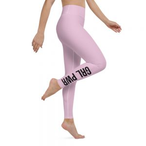 GRL PWR Feminist Yoga Pink Leggings