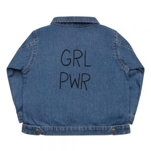 GRL PWR Embroidered Baby Organic Jacket