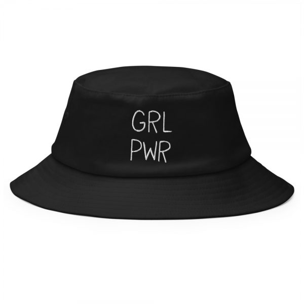 GRL PWR Embroidered Old School Bucket Hat