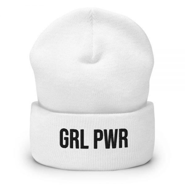 GRL PWR Feminist Cuffed Beanie