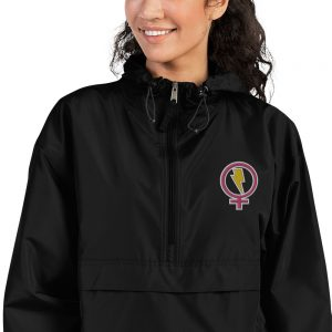 Flash Feminist Embroidered Champion Packable Jacket
