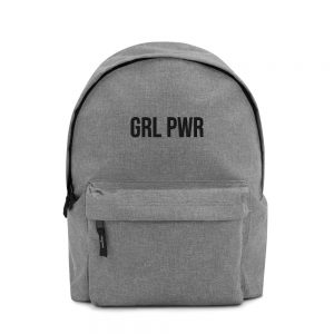 GRL PWR Feminist Embroidered Backpack