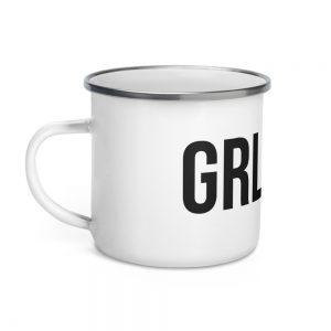 GRL PWR Feminist Enamel Mug