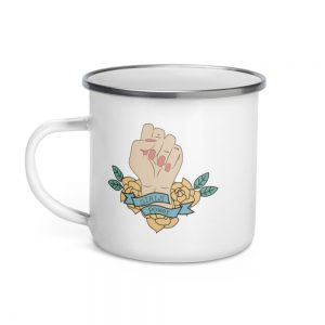 Girls Power Enamel Mug