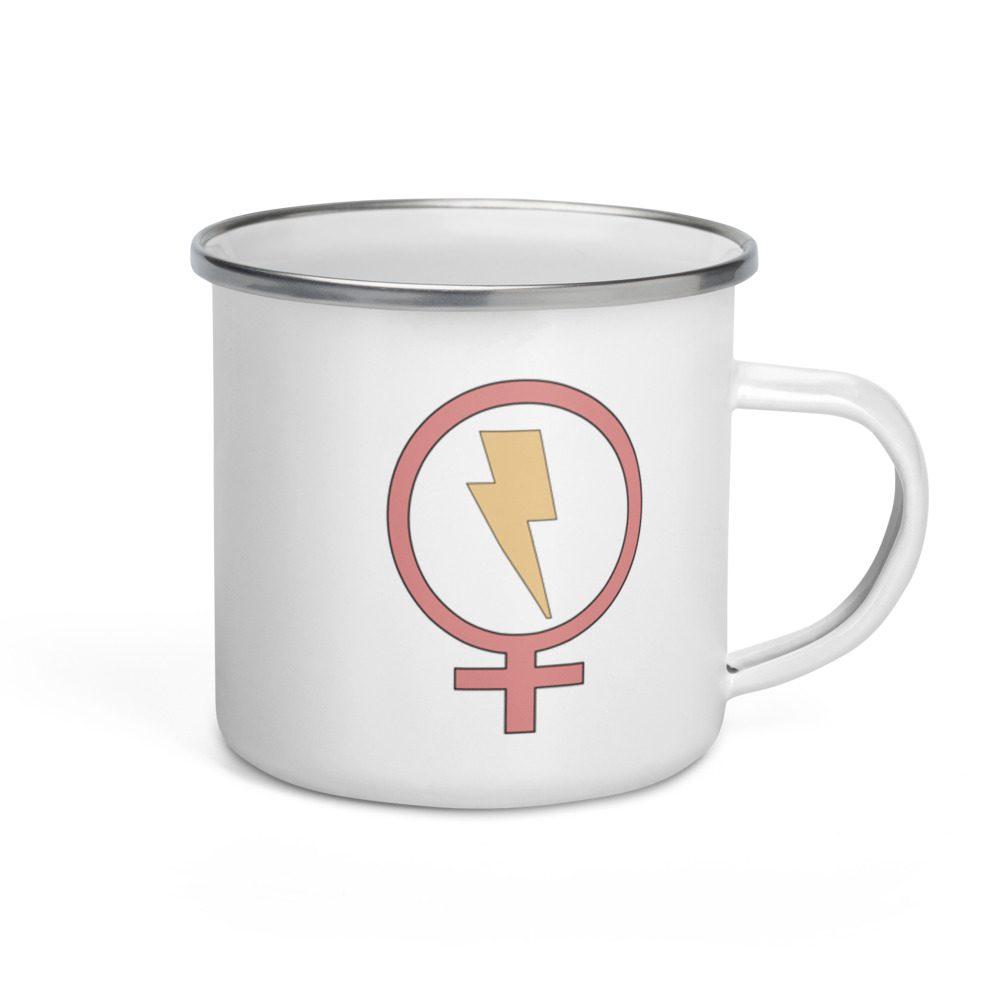 Flash Feminist Enamel Mug