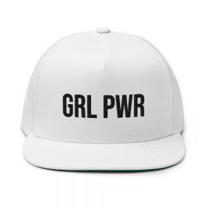 GRL PWR Feminist Flat Bill Cap