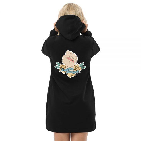 Girls Power Organic Hoodie Dress