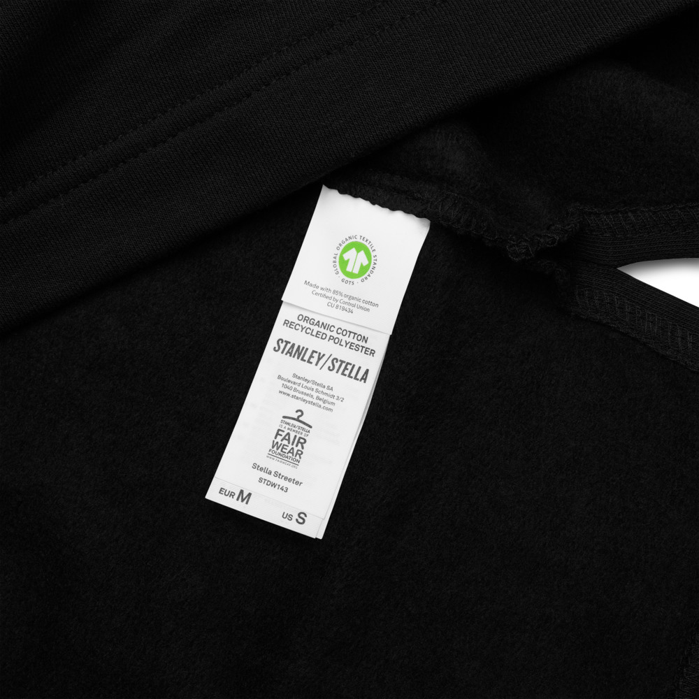 GRL PWR Embroidered Organic Hoodie Dress