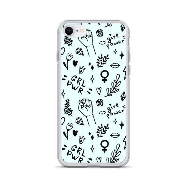 GRL PWR Doodle iPhone Case