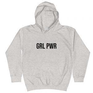 GRL PWR Feminist Kids Hoodie