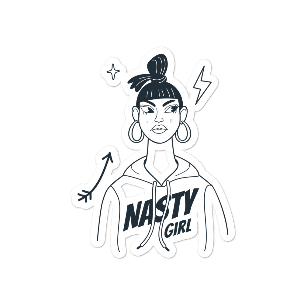 Nasty Girl Bubble-free Stickers