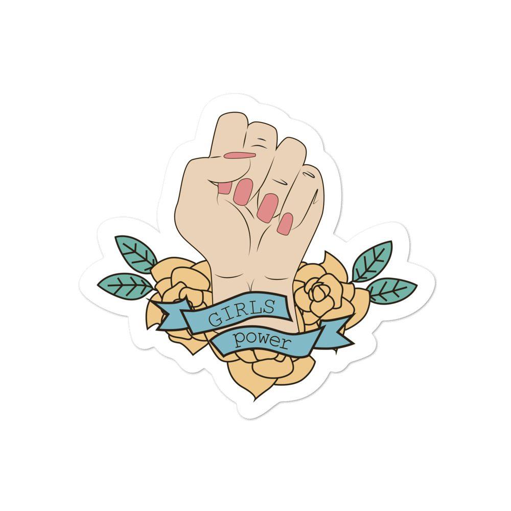 Girls Power Bubble-free Stickers