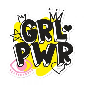 GRL PWR Bubble-free Stickers