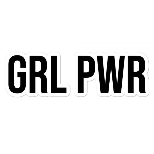GRL PWR Feminist Bubble-free Stickers