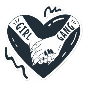 Girl Gang Bubble-free Stickers