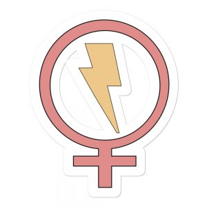 Flash Feminist Bubble-free Stickers