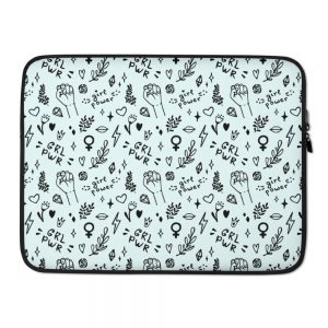 GRL PWR Doodle Laptop Sleeve