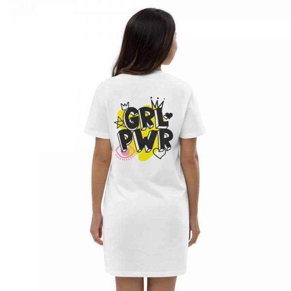 GRL PWR Organic Cotton T-shirt Dress