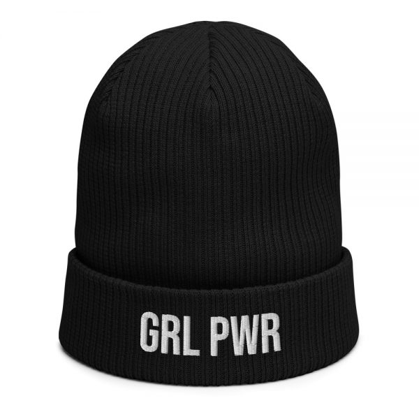 GRL PWR Feminist Organic Ribbed Beanie