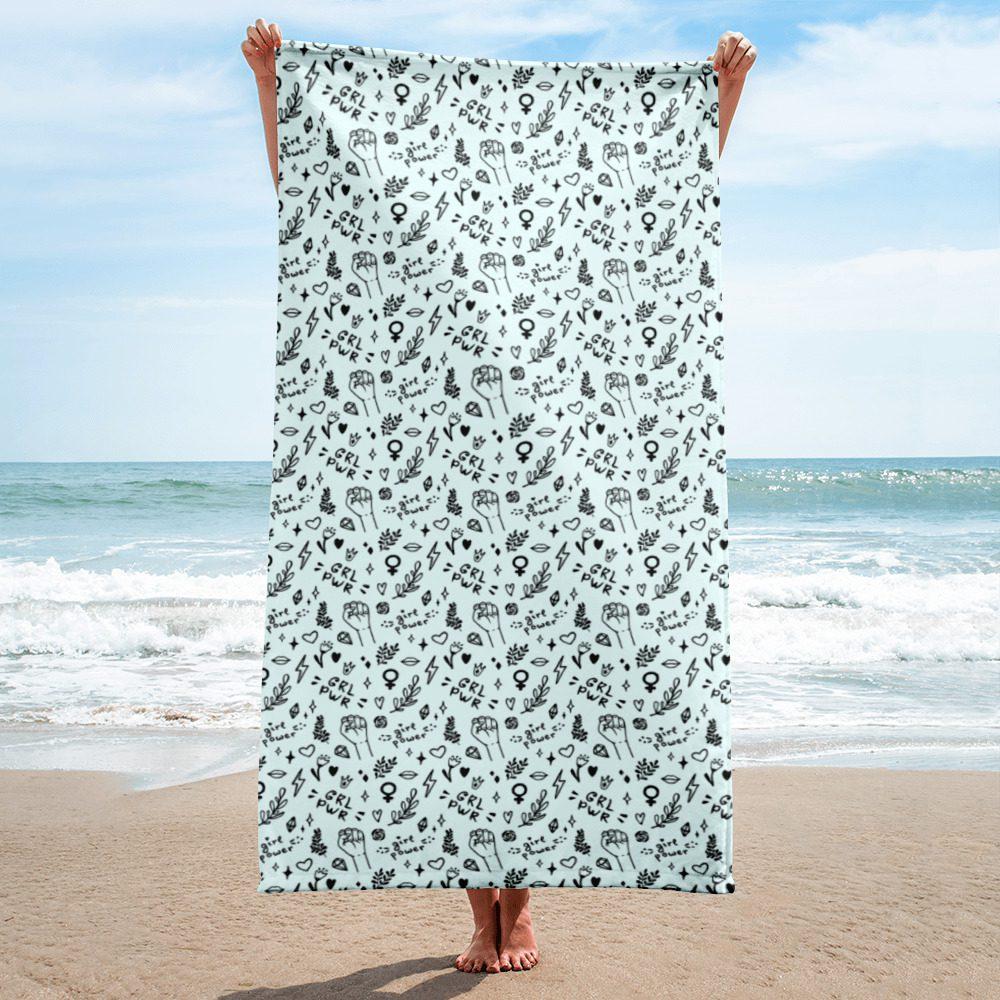 GRL PWR Doodle Towel