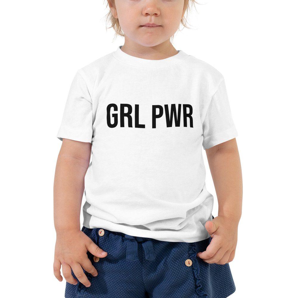 GRL PWR Feminist Toddler Short Sleeve Tee