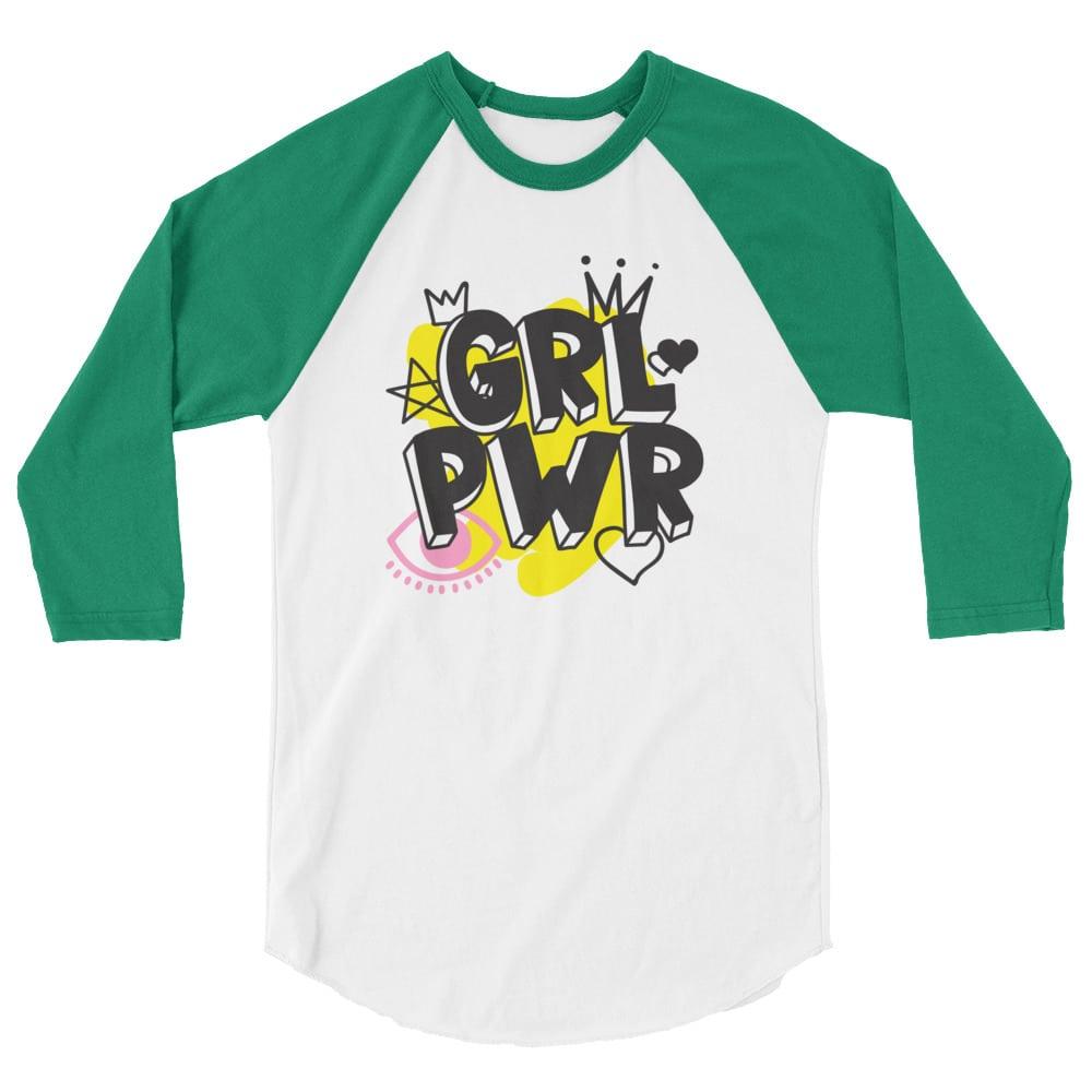 GRL PWR 3/4 Sleeve Raglan Shirt