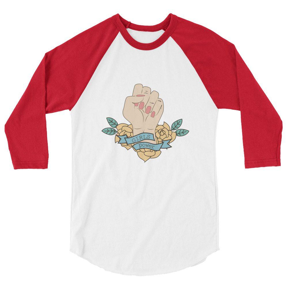 Girls Power 3/4 Sleeve Raglan Shirt