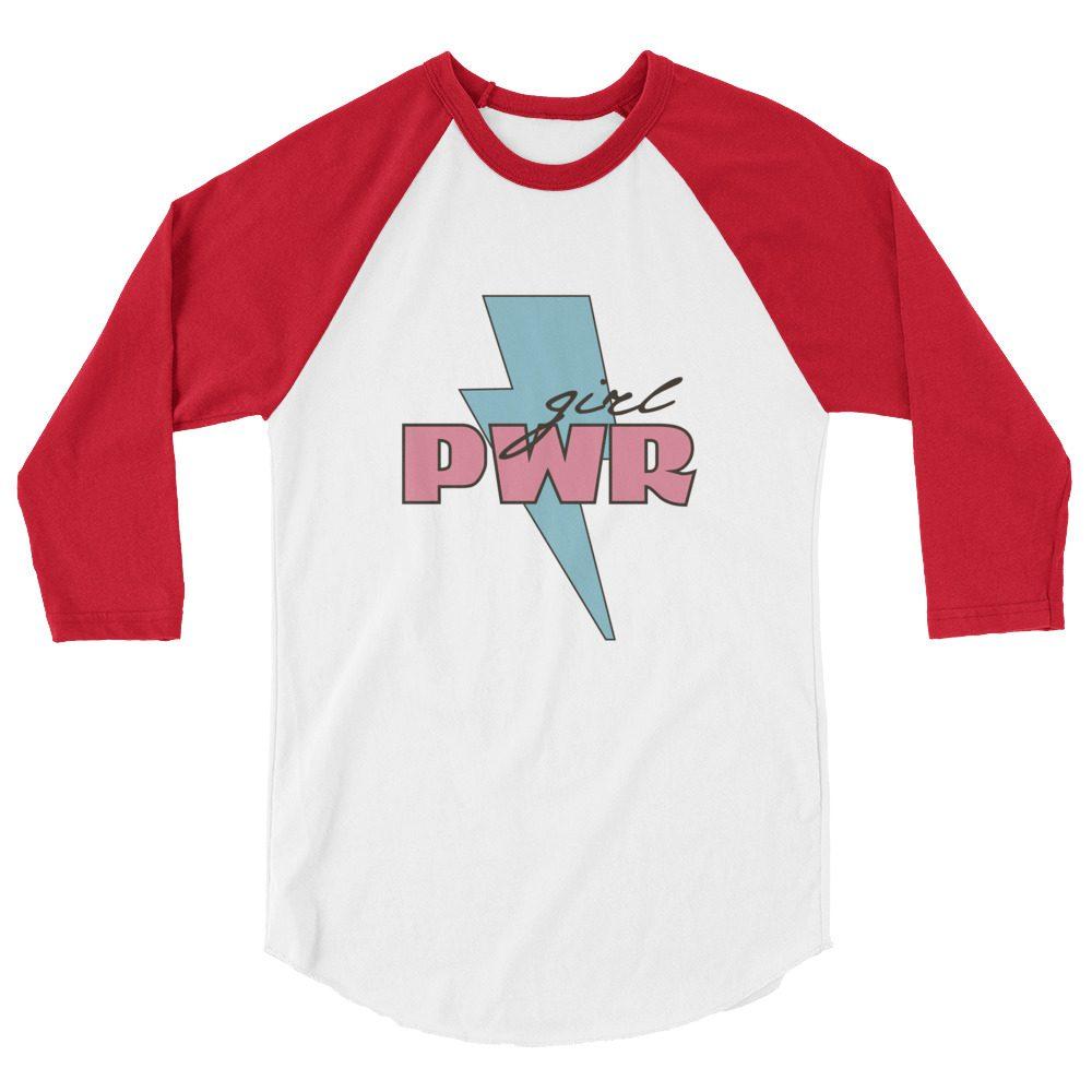 Girl PWR 3/4 Sleeve Raglan Shirt
