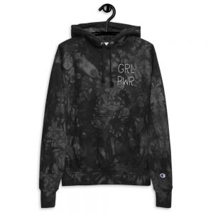 GRL PWR Embroidered Champion Tie-dye Hoodie