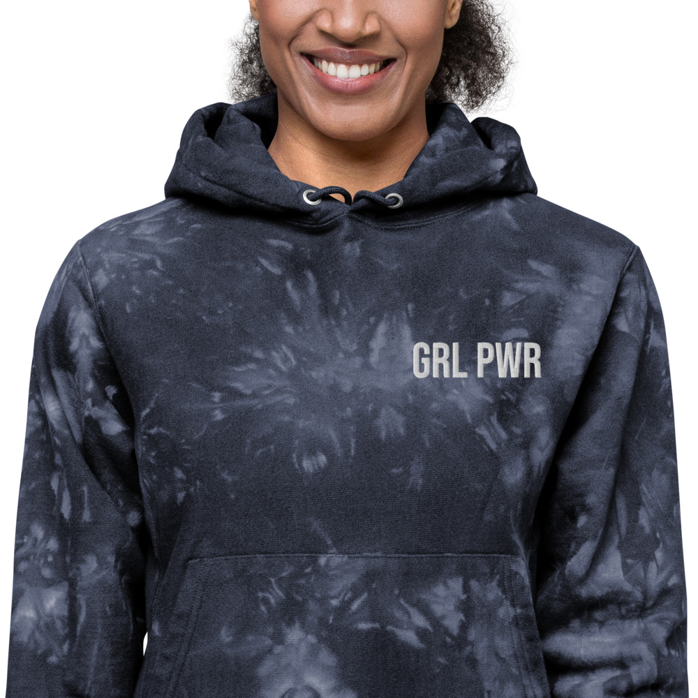 GRL PWR Champion Tie-dye Hoodie (Embroidered)