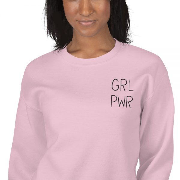 GRL PWR Embroidered Sweatshirt