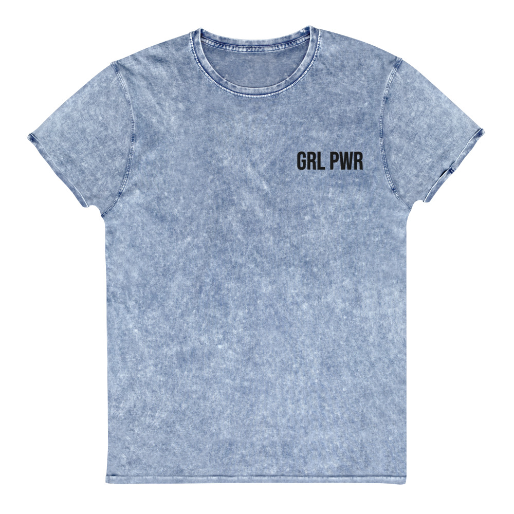GRL PWR Feminist Denim T-Shirt