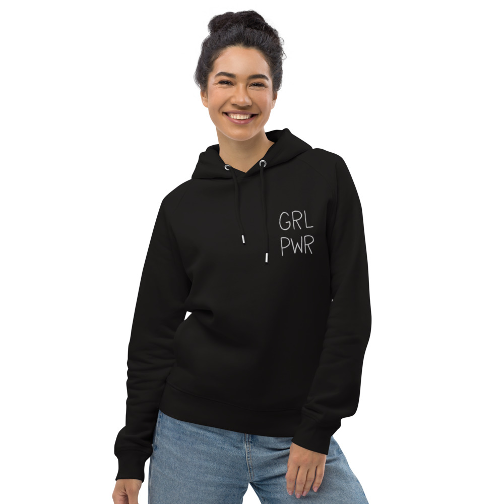 GRL PWR Embroidered Organic Pullover Hoodie
