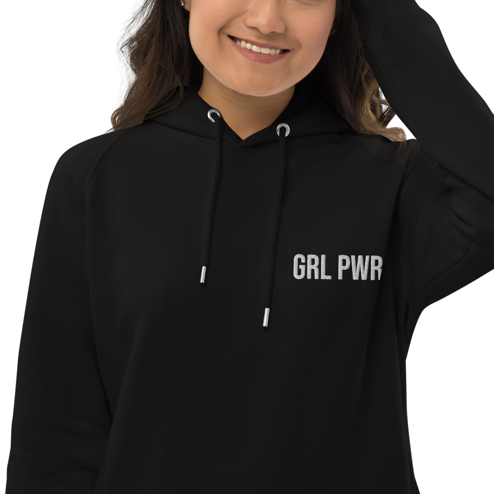 GRL PWR Organic Pullover Hoodie (Embroidered)