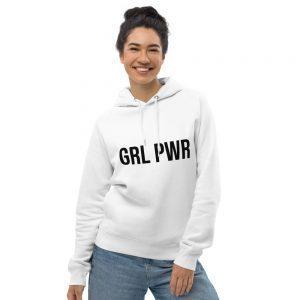 GRL PWR Feminist Organic Pullover Hoodie