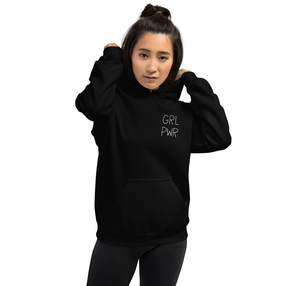 GRL PWR Embroidered Hoodie