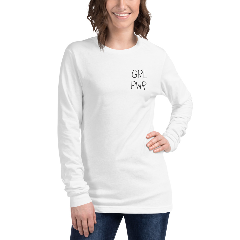 GRL PWR Embroidered Long Sleeve Tee