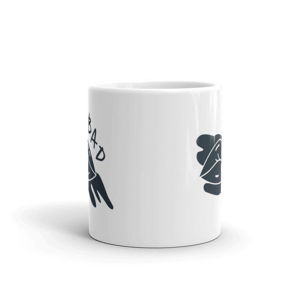 BAD White Glossy Mug