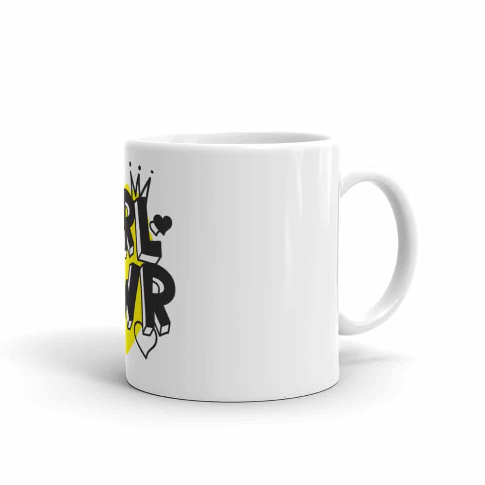GRL PWR White Glossy Mug