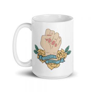 Girls Power White Glossy Mug
