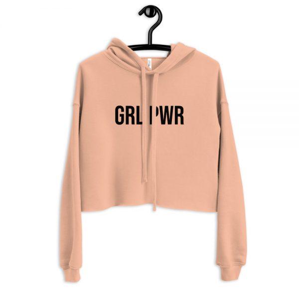 GRL PWR Feminist Crop Hoodie