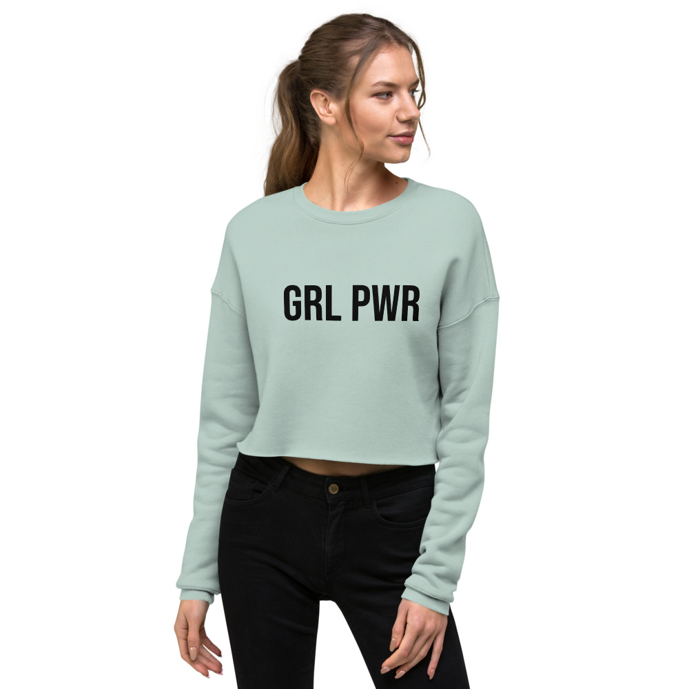 GRL PWR Feminist Crop Sweatshirt
